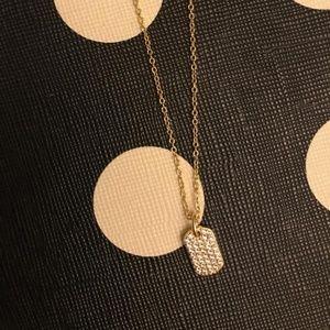 gorjana Shimmer Dog Tag Adjustable Necklace